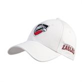 White Heavyweight Twill Pro Style Hat-Shield