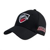 Black Heavyweight Twill Pro Style Hat-Shield