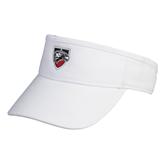 White Brushed Bull Denim Visor-Shield
