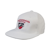 White OttoFlex Flat Bill Pro Style Hat-Official Logo