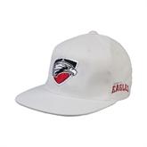 White OttoFlex Flat Bill Pro Style Hat-Shield