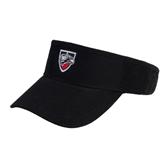 Black Brushed Bull Denim Visor-Shield