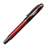 Carbon Fiber Red Rollerball Pen-Arched Edgewood College Engraved