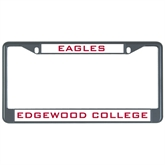 Metal License Plate Frame in Black-Eagles