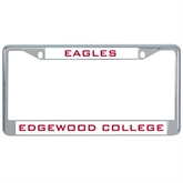 Metal License Plate Frame in Chrome-Eagles