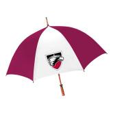 62 Inch Cardinal/White Umbrella-Shield