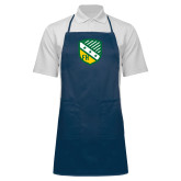 Full Length Navy Apron-Shield