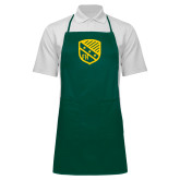 Full Length Dark Green Apron-Shield
