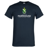 Navy T Shirt-Stacked Crest