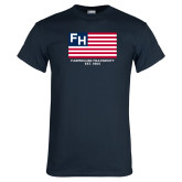Navy T Shirt-American Flag