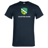 Navy T Shirt-Shield w Chapter Name