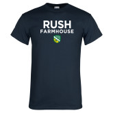 Navy T Shirt-Rush Farmhouse