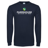 Navy Long Sleeve T Shirt-Builder Of Men Stacked