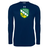 Under Armour Navy Long Sleeve Tech Tee-Shield