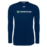 Under Armour Navy Long Sleeve Tech Tee-Farmhouse Shield