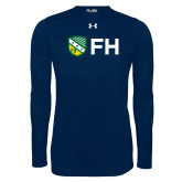 Under Armour Navy Long Sleeve Tech Tee-FH Shield