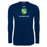 Under Armour Navy Long Sleeve Tech Tee-Alumni Design
