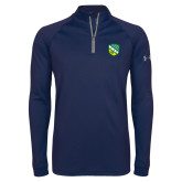 Under Armour Navy Tech 1/4 Zip Performance Shirt-Shield