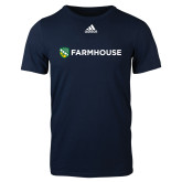 Adidas Navy Logo T Shirt-Farmhouse Shield