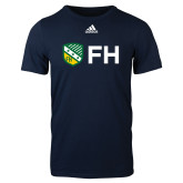 Adidas Navy Logo T Shirt-FH Shield