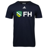 Adidas Climalite Navy Ultimate Performance Tee-FH Shield