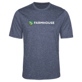 Performance Navy Heather Contender Tee-Farmhouse Shield
