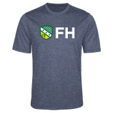 Performance Navy Heather Contender Tee-FH Shield