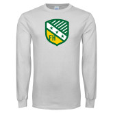 White Long Sleeve T Shirt-Shield