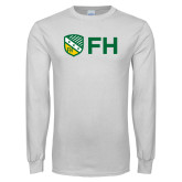White Long Sleeve T Shirt-FH Shield
