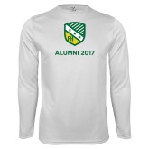 Performance White Longsleeve Shirt-Alumni Design