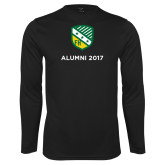 Performance Black Longsleeve Shirt-Alumni Design