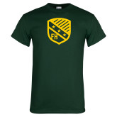 Dark Green T Shirt-Shield