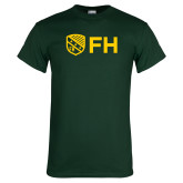 Dark Green T Shirt-FH Shield