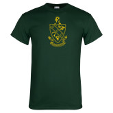 Dark Green T Shirt-Crest
