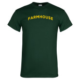 Dark Green T Shirt-Arched Farmhouse