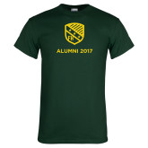 Dark Green T Shirt-Alumni Design