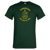 Dark Green T Shirt-Crest w Tagline