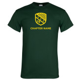 Dark Green T Shirt-Shield w Chapter Name