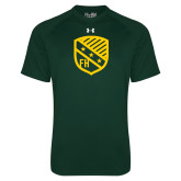 Under Armour Dark Green Tech Tee-Shield