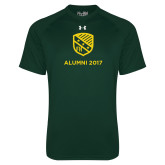 Under Armour Dark Green Tech Tee-Alumni Design