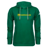Adidas Climawarm Dark Green Team Issue Hoodie-Farmhouse Shield