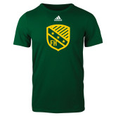 Adidas Dark Green Logo T Shirt-Shield