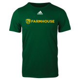 Adidas Dark Green Logo T Shirt-Farmhouse Shield