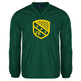 V Neck Dark Green Raglan Windshirt-Shield