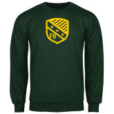 Dark Green Fleece Crew-Shield