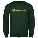 Dark Green Fleece Crew-Farmhouse Shield