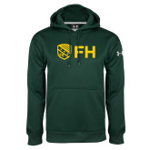 Under Armour Dark Green Performance Sweats Team Hoodie-FH Shield