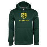 Under Armour Dark Green Performance Sweats Team Hoodie-Alumni Design
