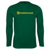 Performance Dark Green Longsleeve Shirt-Farmhouse Shield