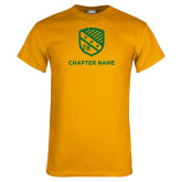 Gold T Shirt-Shield w Chapter Name